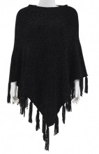 Y-E6.1 SCARF008-004E Scarf with Fringes Black