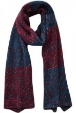 Q-E7.1 Thick Scarf Red-Blue-Gold 210x40cm
