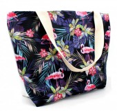Y-D5.3 BAG003-007 Beach Bag Flamingos 48x30cm
