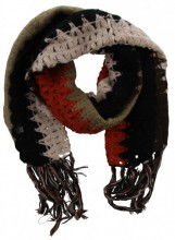 K-F2.1 Knitted Scarf with Fringes Color Blocking Multi Color 50x180cm