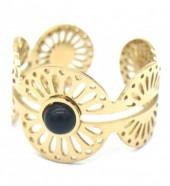 F-D15.2 R521-003 Stainless Steel Ring Open Pattern Gold