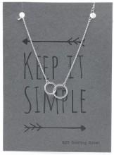 B103-048 925 Sterling Silver Bracelet Circles