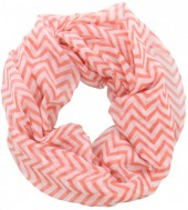 X-K9.2  Loop Scarf with Lines Pink