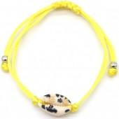 D-E4.3 B2001-057D Bracelet with Leopard Shell Yellow