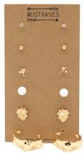 F-B19.1 E426-019 Earring Set 6pcs Gold