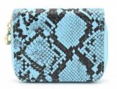 X-I8.2 WA321-001 Small Wallet Snakeskin Blue