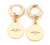 E-C7.3  E304-008 Metal Earrings Northern Star Gold