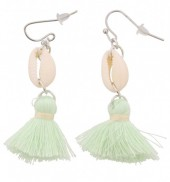 I-C16.2 E009-010 Shell with Tassel Green 5cm