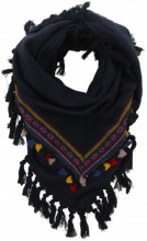 T-M1.2  Bohemian Style Scarf with Tassels 180x90cm Blue