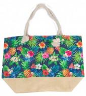Y-C5.4  BAG528-020 Beach Bag Jungle Pineapples 36x52cm