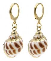 A-G7.2 F20.5 E2121-058G S. Steel Earrings Shell 1x3cm GoldA-G7.2 F20.5 E2121-058G S. Steel Earrings Shell 1x3cm Gold