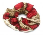 S-E3.5 H305-0139A Scrunchie Snake Red