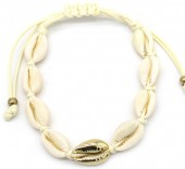 D-D9.2 B2001-020B Bracelet with Shells Gold-Beige