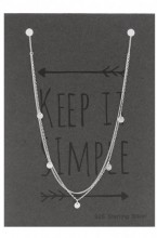 E-E20.5  SN104-010 Layered Necklace 925 Sterling Silver with Coins