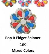 T-B4.1 T2130-009 Fidget Spinner Pop It  8.5cm- Mixed Prints - 1pcs