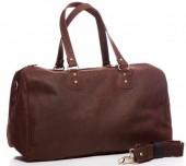 T-H5.1  BAG-921 Luxury Leather Travel-Sport Bag 47x32x16cm Brown