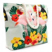 Y-F2.1 BAG001-010 Beach Bag with Flamingos 44x34cm
