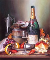 Z-F3.3 RA3033 Paint By Number Set Champagne 40x30cm