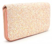 Q-G7.2 WA117-001 Glitter Wallet 19x10cm Pink