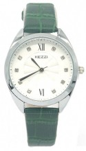 C-B7.1 K-1814 Quartz Watch with Croco PU Strap 30mm Green-Silver