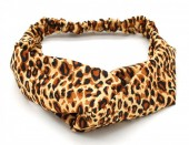 S-E3.3  H039-004 Headband with Leopard Print Brown