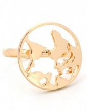 C-E8.2 R304-056 Ring Worldmap Gold