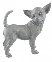 Z-F6.3 Chihuahua Silver Polyester 27x28x13cm