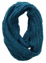 S-A8.2 Knitted Col Scarf Blue