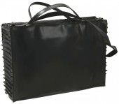 R-A6.2 BAGI-070 Luxury Leather Bag with Ruffles on the Side 45x32x12cm