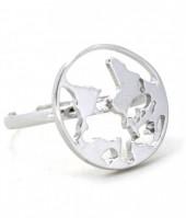 C-E7.2 R304-056 Ring Worldmap Silver
