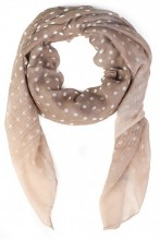 X-H2.2 S107-008 Scarf with Dots 85x180cm Brown