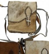 K-C6.2 Leather Cowhide Cross Body Bag 1pc 19x23x6cm Brown Mix