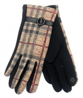 R-L7.1 GLOVE403-072D Checkered Glove Brown