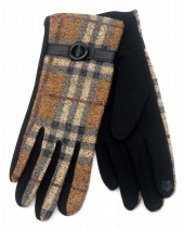 R-L6.2 GLOVE403-072C Checkered Glove Brown