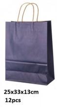 Y-C3.2 Black Paper Bag 25x33x13cm 12pcs