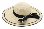 Q-B2.2 HAT315-002 Hat with Bow Light Brown