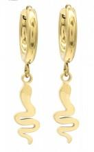 E-A4.4  E010-022G S. Steel Earrings Snake 1x2.5cm