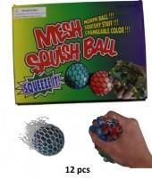 Mesh Squish Ball 12 pcs in Display
