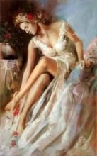Q-B7.2 Q167 Diamond Painting Set Girl in Dress 20x30cm