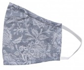 S-I7.3 Face Mask Cotton - Washable - Embroidered - Grey