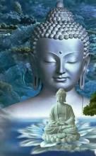 Q-F7.2 H564 Diamond Painting Set Buddha Round Stones 50x40cm