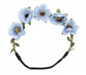 I-E1.1 Ibiza Flowers Headband Blue