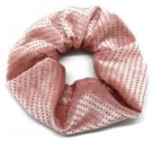 S-E3.4 H307-011B Scrunchie with Glitters Pink