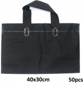 X-P7.1  Deluxe Plastic Bags 50pcs Black 40x30cm
