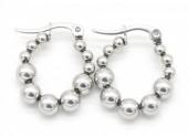 A-E2.2 E301-003 Stainless Steel Earrings 2cm Silver