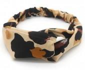 S-I7.3 H034-008 Headband with Animal Print Brown