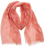 X-C10.2 S004-005 Scarf Small Feathers 70x180cm Pink