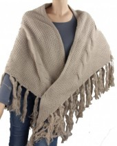 Y-A4.5 XL Knitted Scarf with Fringes 90x160cm