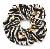 S-I3.2 H305-021E Velvet Scunchie with Animal Print