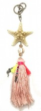 S-K6.3 KY219-001 Key-Bag Chain Tassel and Starfish Pink